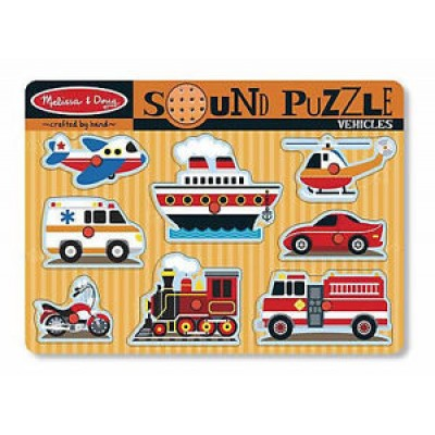 Puzzle Ενσφηνώματα Οχήματα με Ήχο, melissa & doug