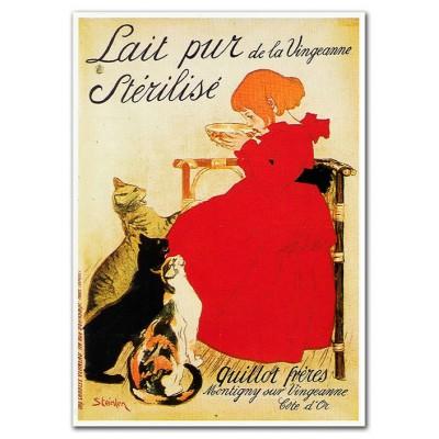 Μεταλλική αφίσα - Lait Pur Sterilise