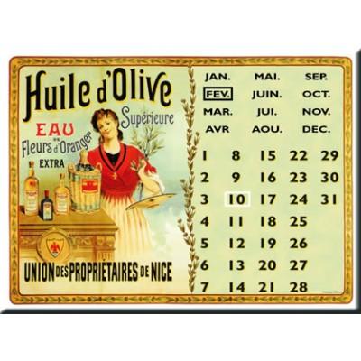 Μεταλλική Αφίσα- Ημερολόγιο Huile Olive