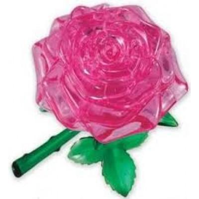 3D Crystal Puzzle - Τριαντάφυλλο Ροζ