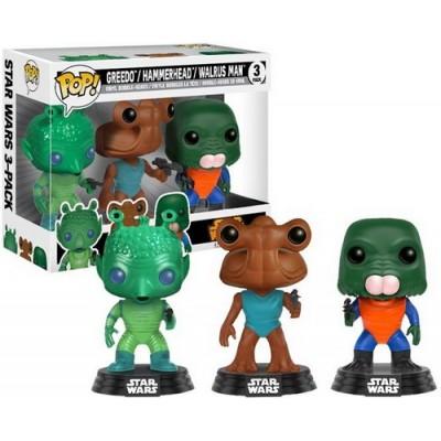 Pop! Star Wars Greedo, Hammerhead, Walrus Man - 3 Pack