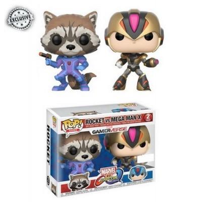 Pop! Rocket Megaman Marvel Vs Capcom - 2 Pack, Funko