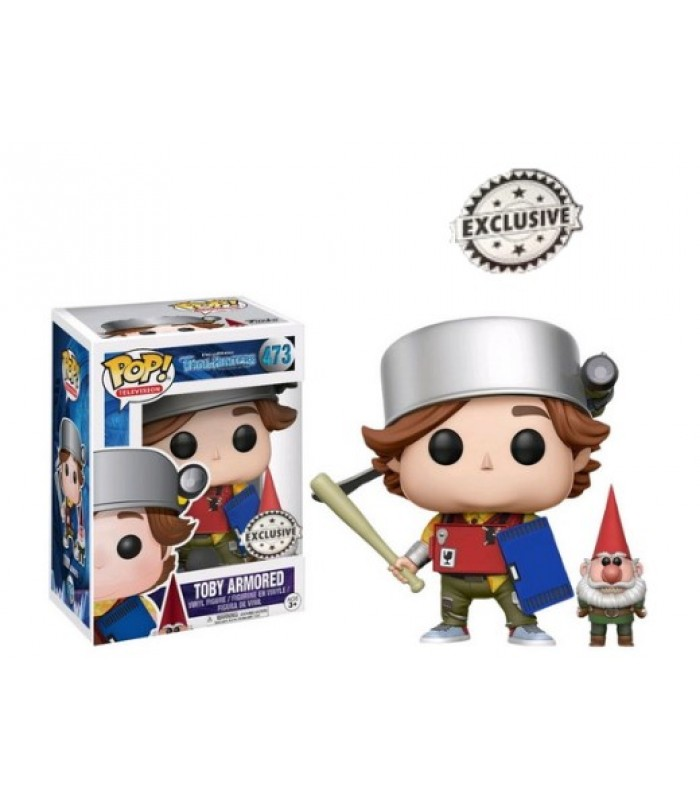 Pop! Trollhunters Toby Armored with Gnome Exclusive #473, Funko