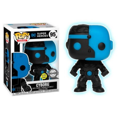 Pop! DC Comics Justice League Cyborg Ecxlusive ( Glows in the dark ) #95, Funko
