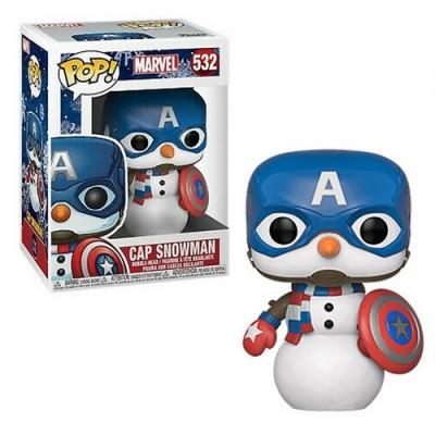 Pop! Marvel Holiday Cap Snowman ( Captain America ) #532, Funko