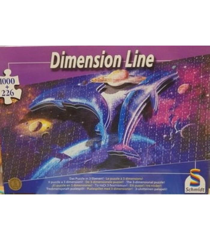 Puzzle Dimension Line 3 Διαστάσεων - Δελφίνια, Schmidt