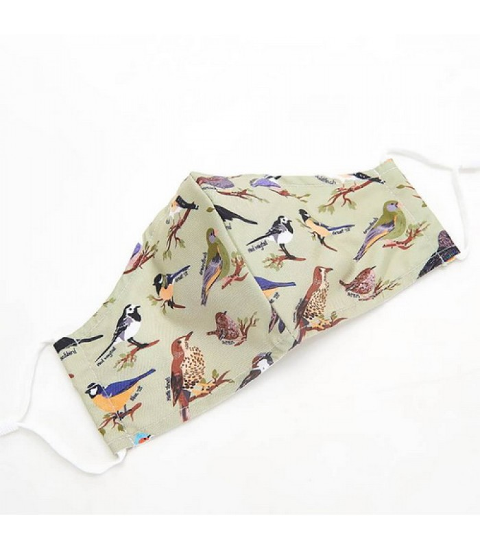 Green Wild Birds Face Cover,Eco chic