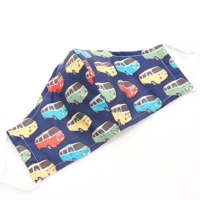 Navy Campervan Face Cover,Eco chic