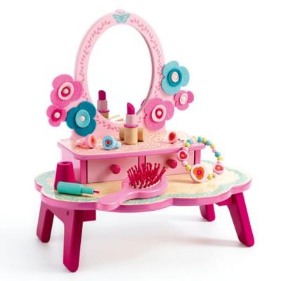 Ξύλινο παιχνίδι ρόλων 'Τουαλέτα ομορφιάς ροζ'