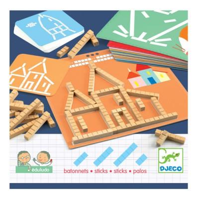 Παιχνίδι σύνθεσης εικόνας - αρίθμησης με ξυλάκια