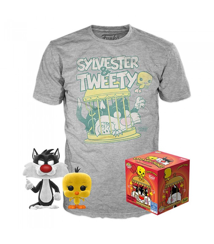 Pop! & Tees Sylvester and Tweety,Funko