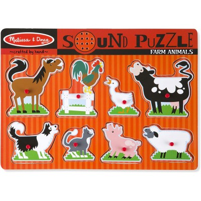Puzzle Ενσφηνώματα Ζώα Φάρμας με Ήχο