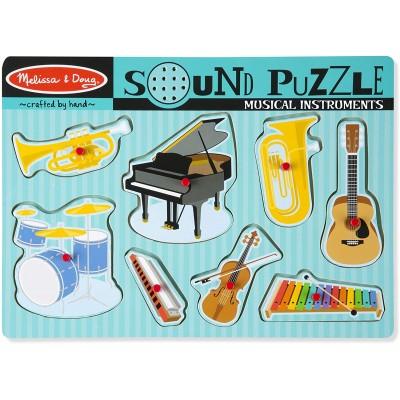 Puzzle Ενσφηνώματα Μουσικά Όργανα με Ήχο