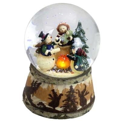Μουσική Χιονόμπαλα οικογένεια χιονάνθρωποι