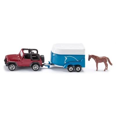 Αυτοκίνητο Jeep με τρέιλερ