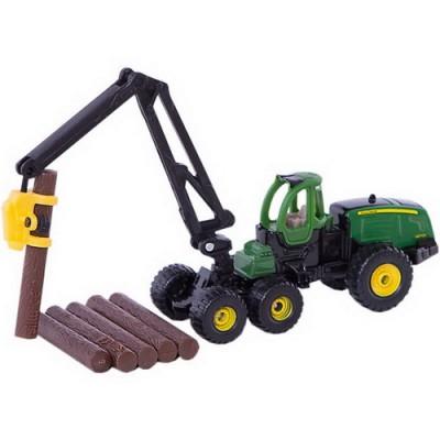 Τρακτέρ John Deere Harvester 1470E με κορμούς, Siku