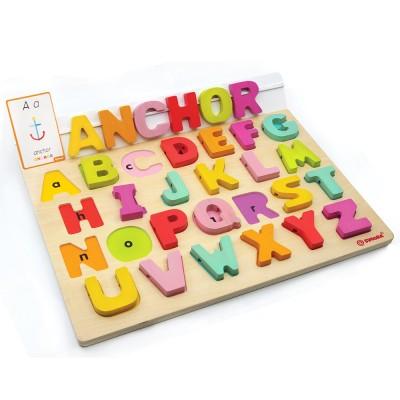 Ξύλινο Αγγλικό Αλφάβητο με Καρτέλες, svoora