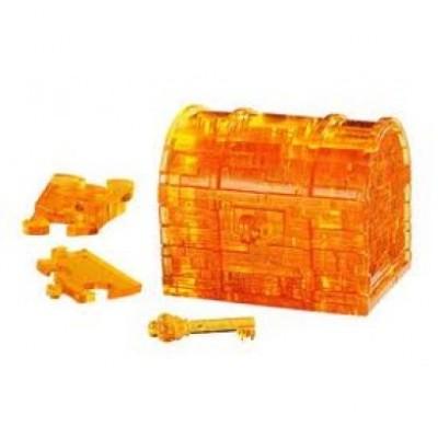 3D Crystal Puzzle Σεντούκι Κίτρινο