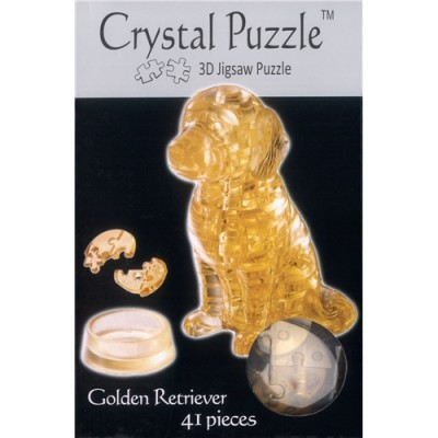3D Crystal Puzzle Σκύλος Golden Retriever