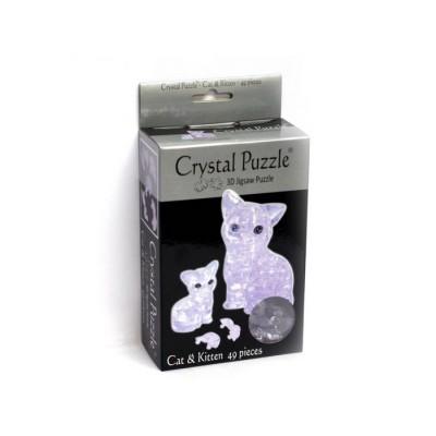 3D Crystal Puzzle Γάτα και Γατάκι